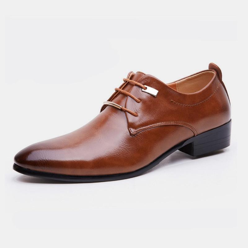 25126516f8 ... oficina trabajo oxford zapatos para hombres. Cheap Zapatos de hombre de cuero  elegante vestido formal italiano calzado masculino marca de lujo moda