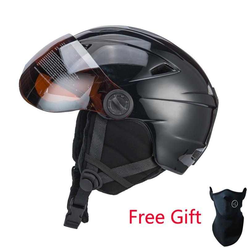 21be526b695b5 Capacete Com Óculos de Proteção de esqui capacete Integralmente-moldado  Semi-coberto Certificação CE