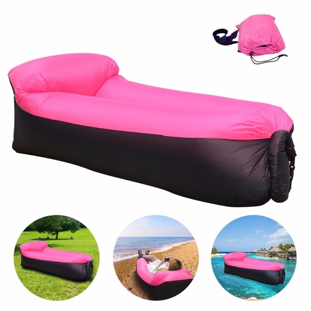 Sleeping bag Inflatable Sofa <font><b>Air</b></font> Bed Chair Sleeping Bag Mattress Seat Couch Camping