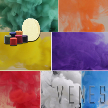 7 Colors Studio Photography Props Smoke Cake , Parties, for halloween night Smoke fog background & Advertising
