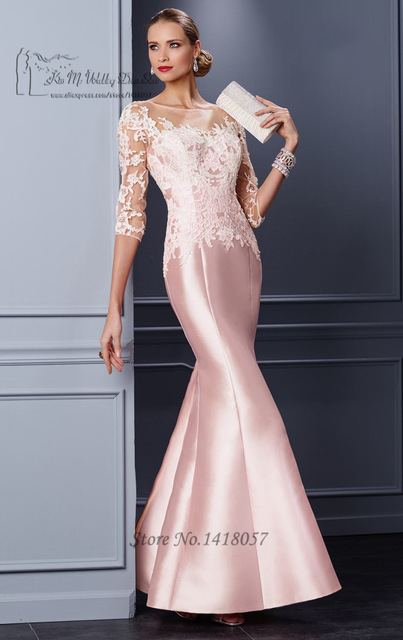 Pink Formal Mother Groom Evening Gowns 2016 Lace Mothers of the ...