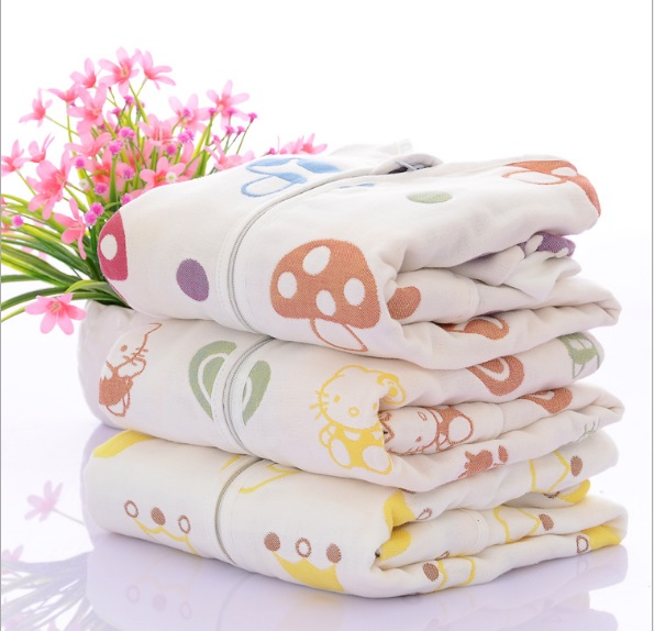 0 5 years Baby Sleeping Bag Long Sleeve Sleepware Muslin Cotton Baby Envelope Swaddle Children Sleepsack Baby Sleepwear Clothes in Blanket Sleepers from Mother Kids