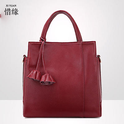 XIYUAN genuine leather grey bags for women 2017 brands fashion black tote bag female leather handbag shoulder bag bolsa feminina 2018 genuine leather bag for women colorful patchwork cowhide tote shoulder bag female handbag crossbody bag bolsa feminina zy02