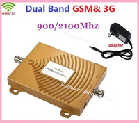 New 2G GSM 900 mhz 3G Repeater 3G 2100mhz Dual Band 65dbi Mobile Cell Phone Signal Repeater 3G GSM Booster Amplifier Extender