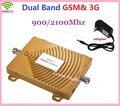 Novo 2G GSM 900 mhz 3G Repetidor 3G 2100 mhz Dual Band 65dbi Repetidor 3G GSM Amplificador Booster de Sinal de Telefone Celular Móvel Extensor