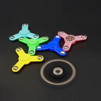 2017 Steel Ball Tri Spinner Fidget Spinner Toy EDC Squeeze Sensory Fidget Fun For Autism ADHD