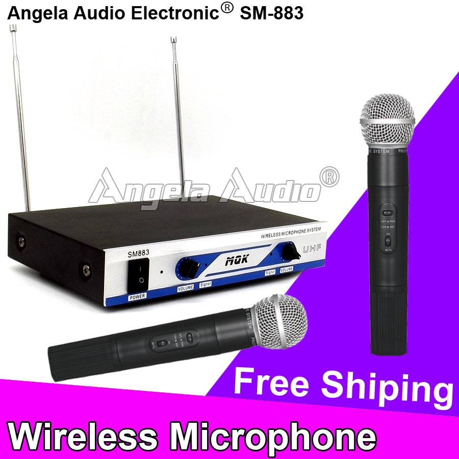 Free Shipping Professional Karaoke Wireless Microphone System Dual Handheld Mic For Singing DJ Home Amplifier Player Audio Mixer
