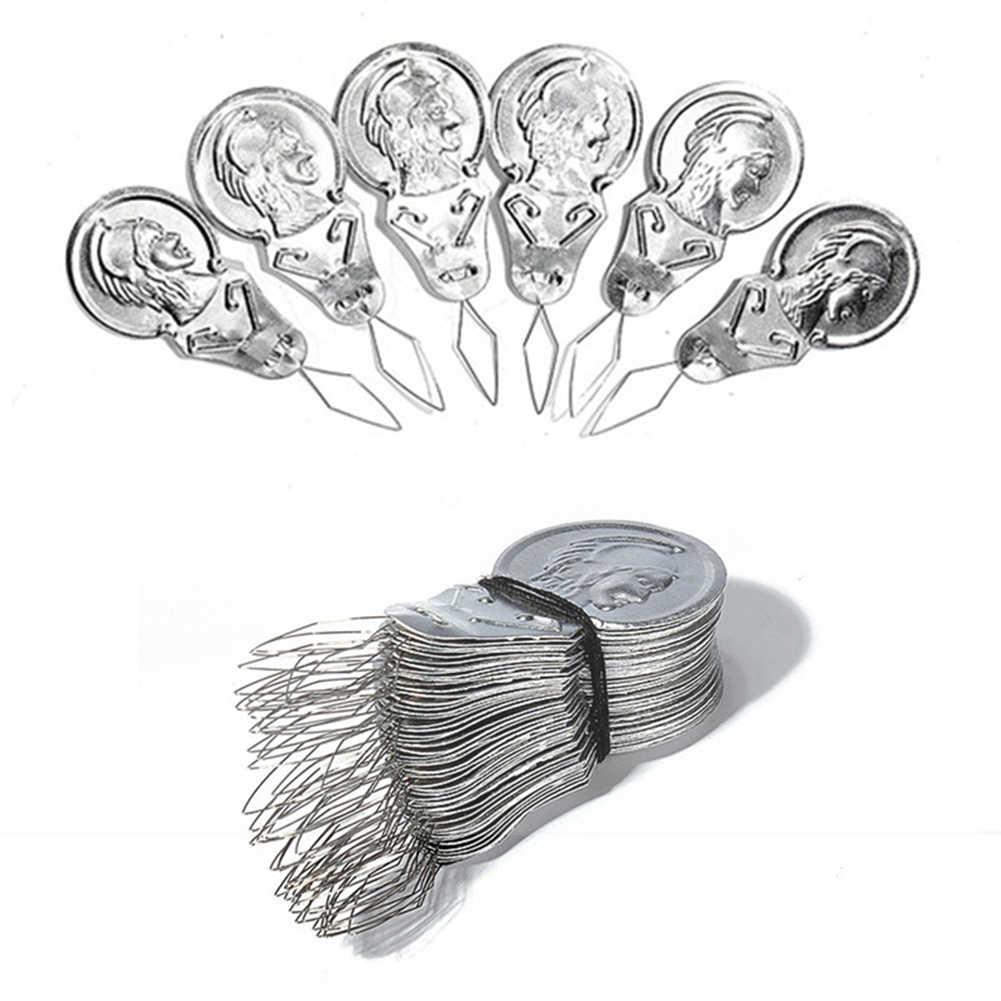 100PCS Bow Wire Needle Stitch Insert Sewing Machines Aluminum Needle Threader
