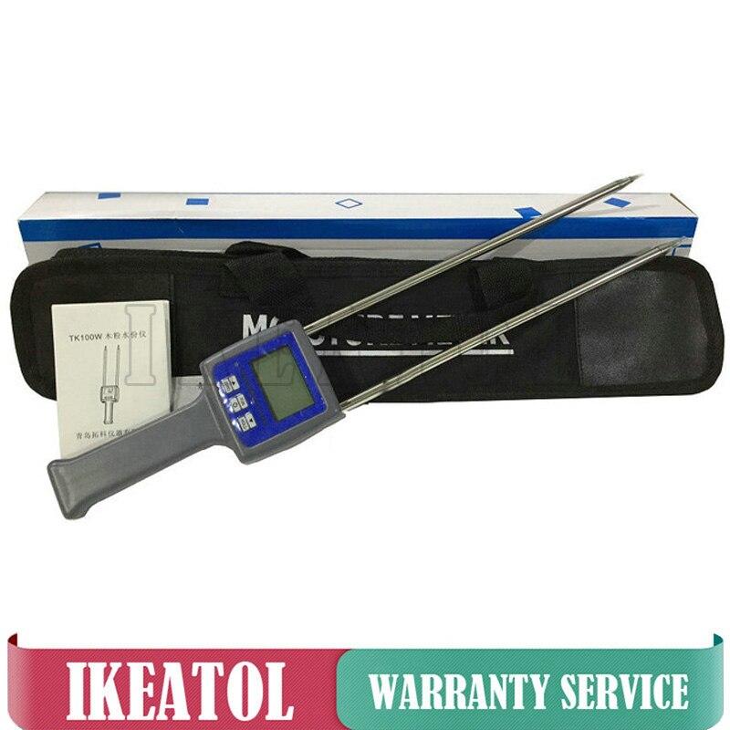 TK100 Moisture Meter Portable Digital Humidity Tester for Grains,Chemical, Plastic Granule, Soap Powder, Soil