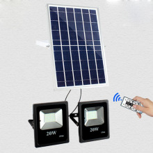 8PCS 10W 20W Double solar powered Flood Lamp working lamp garden LED floodlight sensor remote control led spotlight