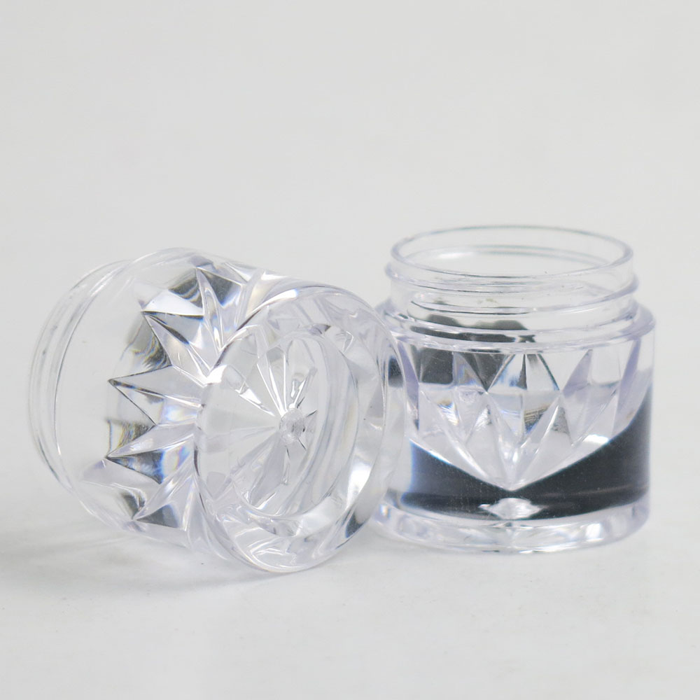 Купить с кэшбэком 30 X 5g Clear Plastic AS Powder Small Sample Jar Powder Case with 1 3 12 Holes Clear Black Cap Cosmetic Travel Empty Powder Jar