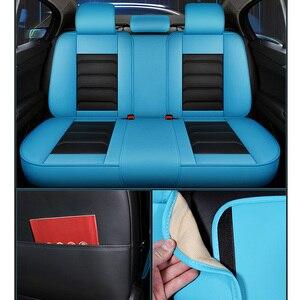 Image 4 - Sport Leder auto sitz abdeckung Für Toyota Corolla Camry Rav4 Auris Prius Yalis Avensis SUV auto zubehör auto styling kissen