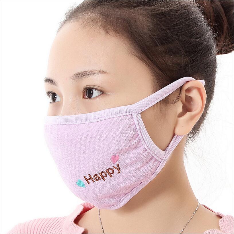 Cotton Design Proof 100 Girl Bacteria Happy Fashion Mask Women