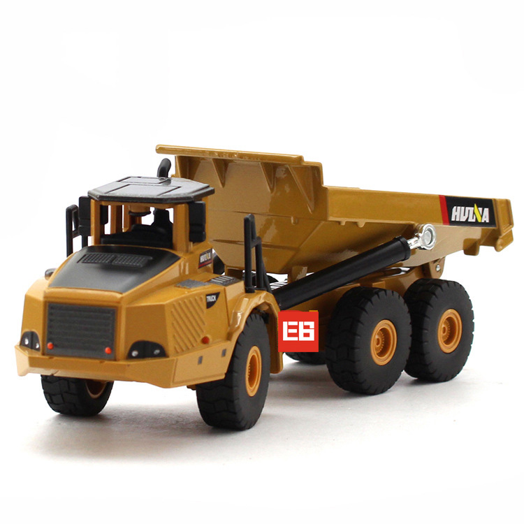high simulation 150 scale engineering vehicle toys articulated dump truck metal model collection for - Toy Dump Trucks