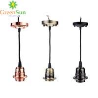 3 Color Set E27 Retro Lamp Holder Pendant light cord Set Ceiling Light Socket Base Ceiling Rose With 1.35M Cable