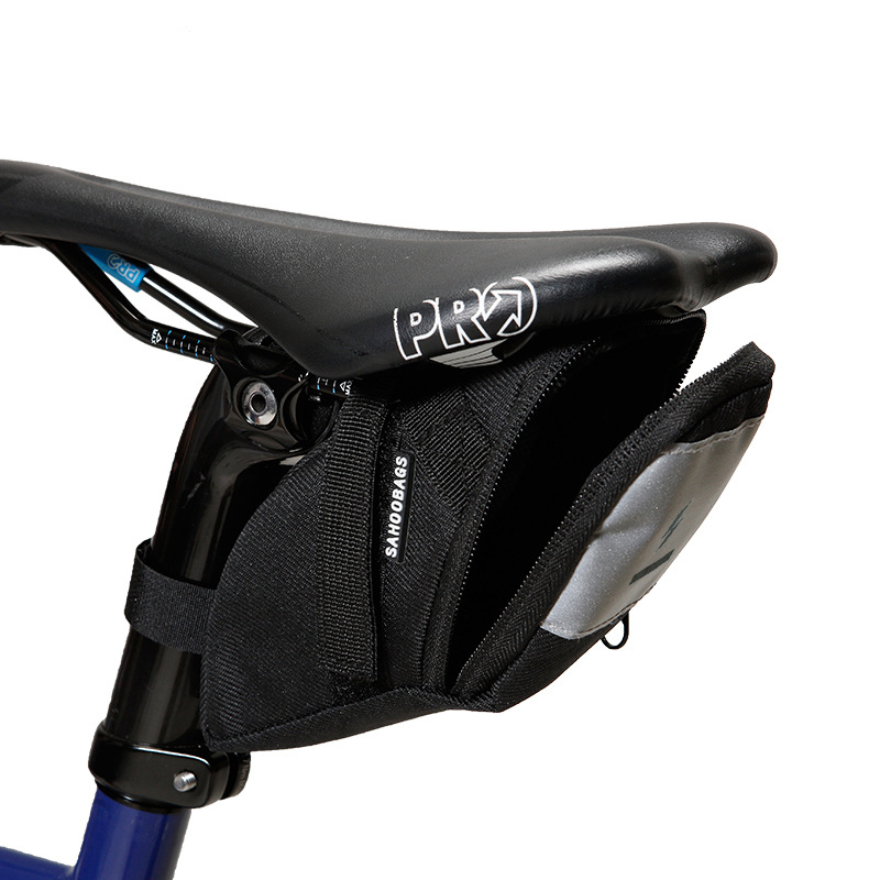 Sahoo Series 132006 132007 Cycling <font><b>Bike</b></font> Bicycle Strap-On Rear <font><b>Back</b></font> Tail Saddle <font><b>Bag</b></font> <font><b>Seat</b></font> <font><b>Bag</b></font> Wedge Pack Wight Light image