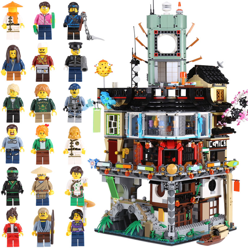 Lepin 06066 Construction Model Ninjagoing City 4932 Pcs Modular Building Blocks Education Toys Bricks Compatible with Lego 70620 spell insert building blocks fire model plastic environmental protection construction science and education children s education