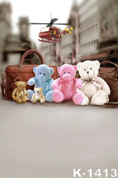 Vintage Background Cloth 150x200CM Floor Studio Backdrops Small Aircraft Toys Cute Doll Props Digital Backgrounds
