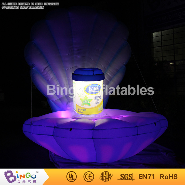 Free Delivery 2016 giant light-up toys inflatable seashell with low price