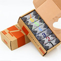 New 7days 7 Pairs/set Men Boys Casual Dress Cotton Week Comfortable Daily Sock Ankle One Week Crew Hose Stockings Gift