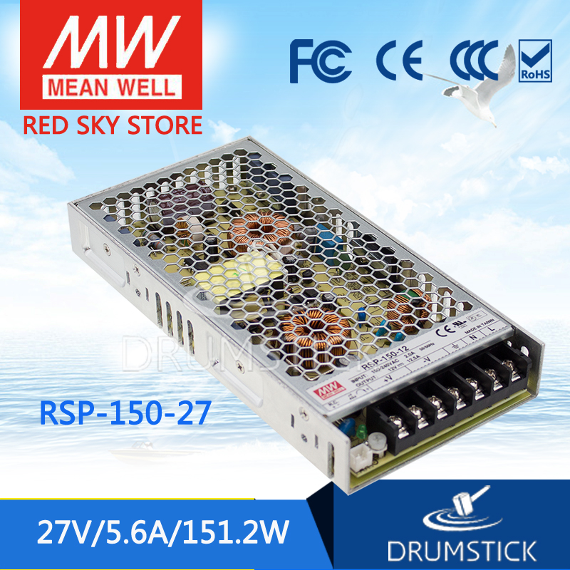 цена на Selling Hot MEAN WELL RSP-150-27 27V 5.6A meanwell RSP-150 27V 151.2W Single Output with PFC Function Power Supply