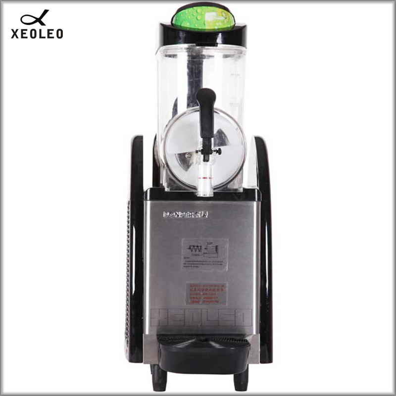 XEOLEO Single Tank Slush  Machine 12L Commercial Smoothie Maker Stainless Steel Beverage Machine  220V Fully-automatic