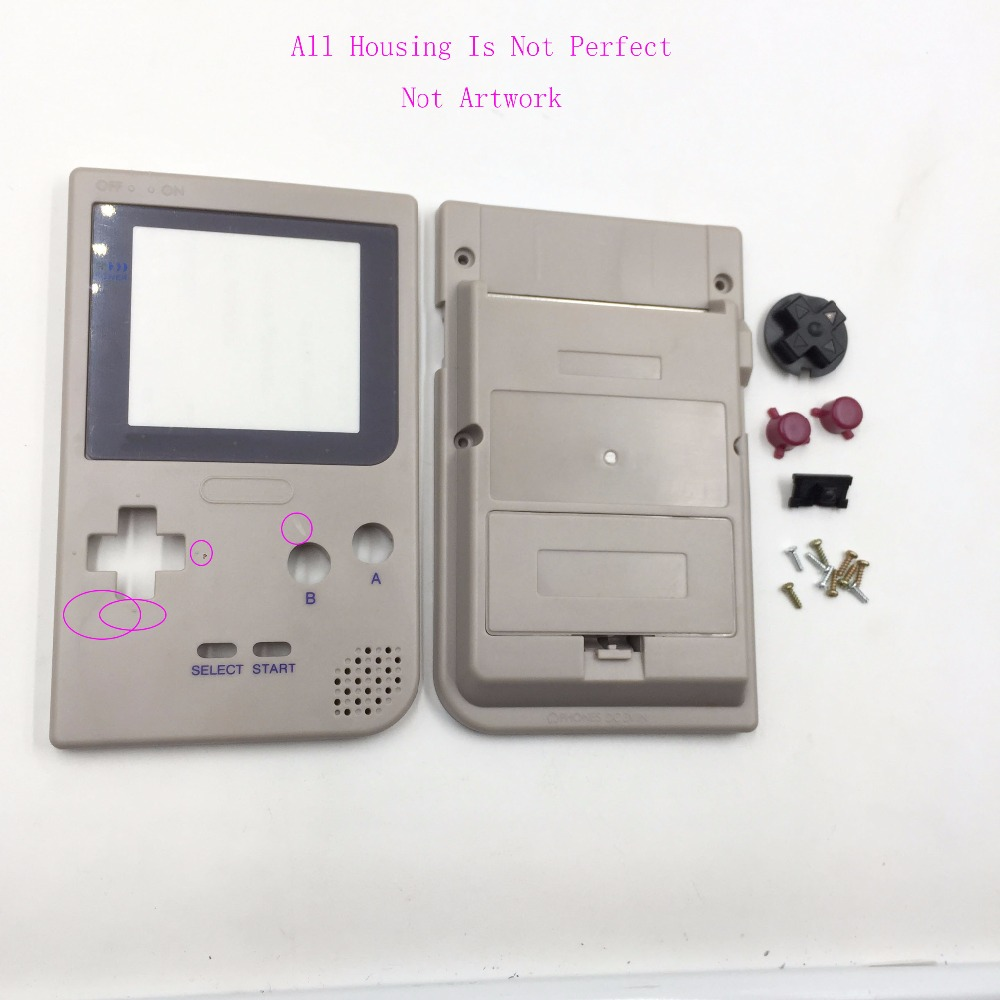 US $6 19 10% OFF|Plastic Grey Housing For Gameboy Pocket For DMG 01 Edition  Housing Case For Game Boy GBP -in Replacement Parts & Accessories from