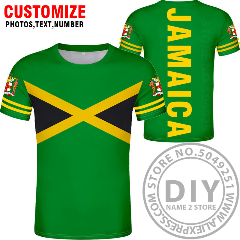 JAMAICA t shirt diy free custom made name number jam t-shirt nation flag jm Jamaican country college print photo logo 0 clothing
