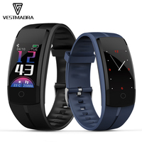 VESTMADRA QS100 Smart Bracelet IP67 Waterproof Blood Pressure Heart Rate Monitor Fitness Tracker Smart Wristband for Android IOS