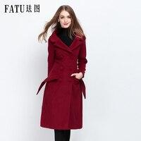 Зимние Модные женские туфли новые теплые пальто Шерстяные пиджаки Длинные Стиль Тонкий Высокое качество Шерстяное пальто свободные супер