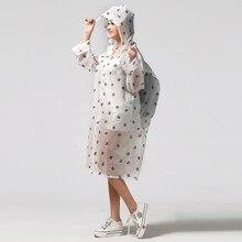Moda EVA przezroczysty wodoodporny damski płaszcz przeciwdeszczowy poncho wiatroszczelny płaszcz przeciwdeszczowy z torbą szkolną lokalizacja wspinaczka Tour płaszcz przeciwdeszczowy