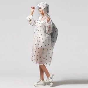 Image 1 - Moda EVA przezroczysty wodoodporny damski płaszcz przeciwdeszczowy poncho wiatroszczelny płaszcz przeciwdeszczowy z torbą szkolną lokalizacja wspinaczka Tour płaszcz przeciwdeszczowy