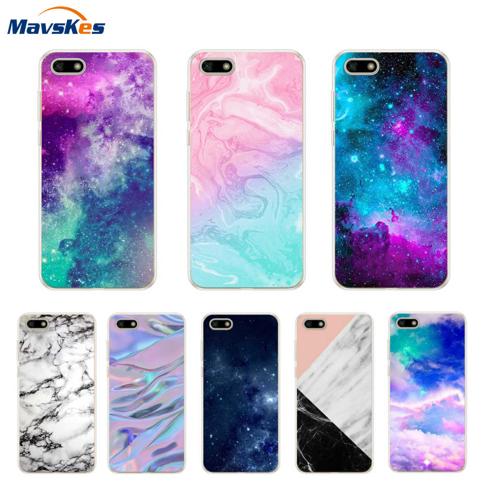 For Huawei Honor 7A DUA-L22 Case on Honor 7A Pro Cover Soft Silicone TPU Case For Huawei Honor 7A 7 A Pattern Phone Case Fundas