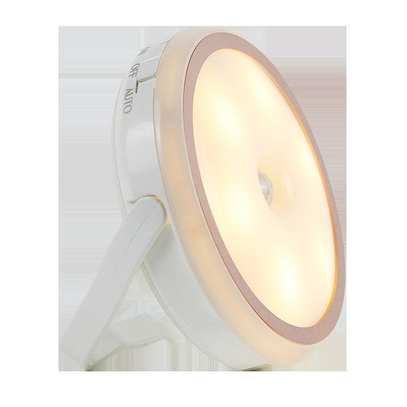 LED Night Light Lamp Cat Ear Body Sensor Adjustable Portable For Bedroom Bedside SLC88
