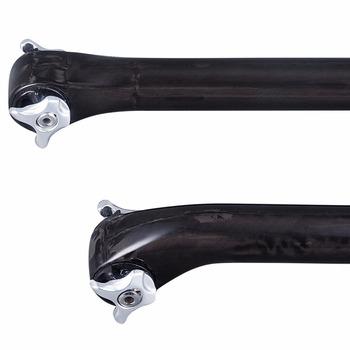 Części rowerowe 5 20 stopni błyszczący włókno węglowe Full UD sztyca MTB droga siodełko rowerowe po 27 2 r 30 8 31 6*350 400mm tanie i dobre opinie TOMTOU Z włókna węglowego 27 2 30 8 31 6mm Carbon Fiber Mountain Road Bike
