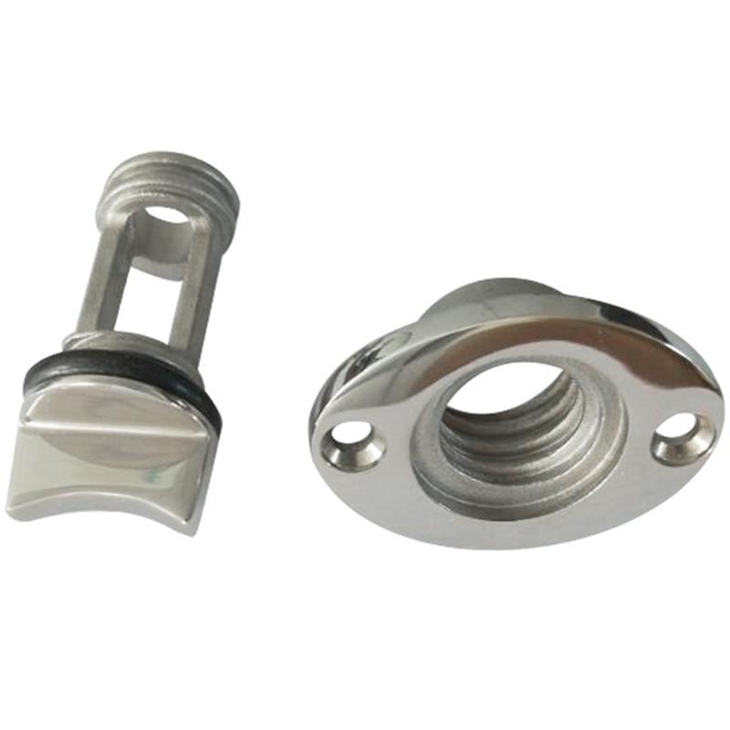 Le bouchon ovale de Drain de Garboard de polissage de Surface de bateau marin adapte l'acier inoxydable 316 anticorrosion de filetage de trou