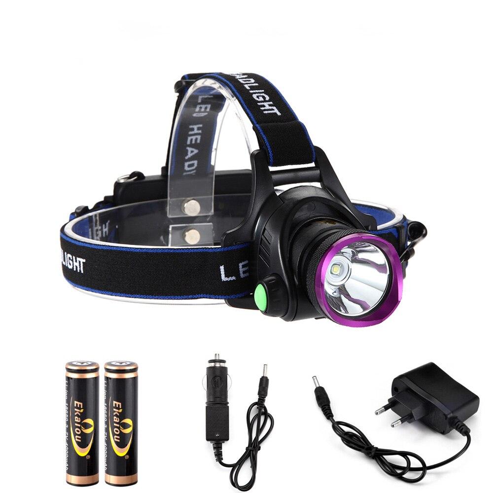 6000 Lumens CREE XM-L XML T6 LED Phare de Phare lampe de Poche chef Lampe + 2*18650 batterie + chargeur + Voiture chargeur