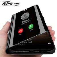 Custodia Smart mi rror Flip Phone per Xiao mi 9 SE 8 A1 A2 Lite 5X 6X Clear View Cover per Red mi Note 7 6 5 Pro 4 4A 4X 6A 5A Prime