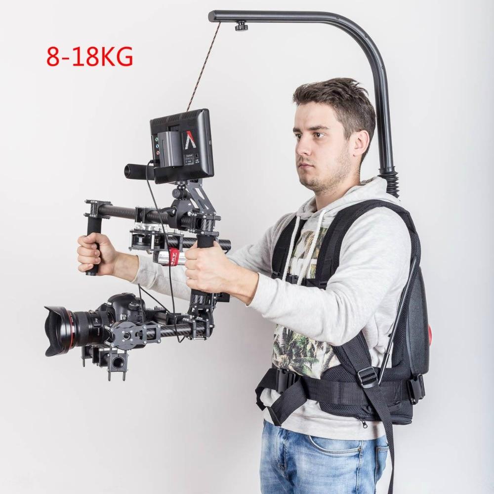 Бесплатная DHL как easyrig жилет rig спокойной arm удобная установка Flowcine спокойной видео карданный вал для DJI Ronin m 3 оси gimbal стабилизатор