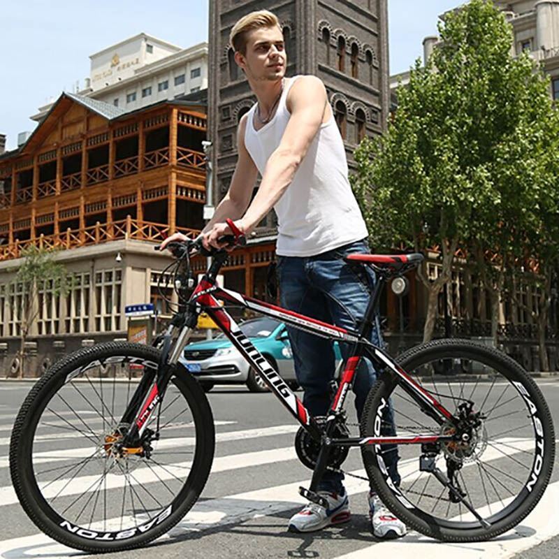 Mountain Bike High Carbon Steel Frame 27 Speed 26 Inches Adult Commuting Cross-Country For Male And Female Students