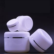 20/30/50/100/150/250g Refillable Bottles Travel Face Cream Lotion Cosmetic Container White Plastic Empty Makeup Jar Pot