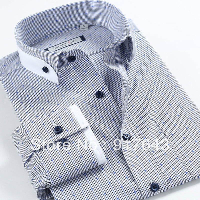 Cross Plait Pattern Comfortable Full Cotton Unique Design Men Dress Cool Dress Shirt Patterns