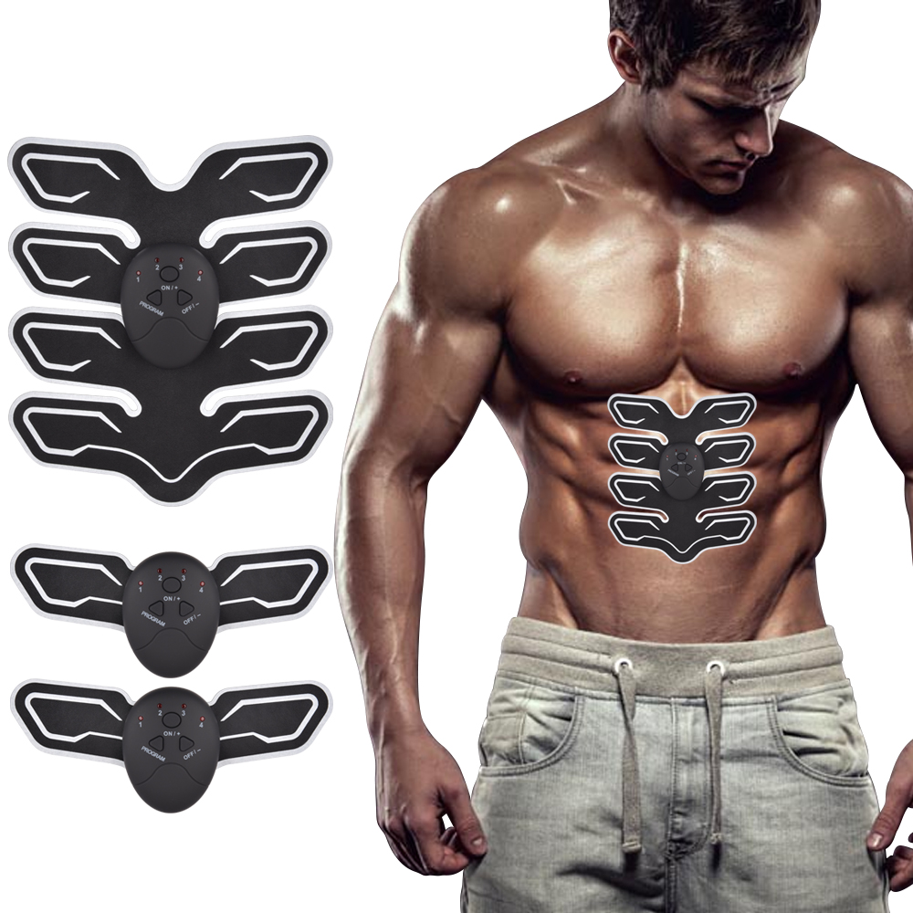 Smart Wireless Electronic EMS Trainer ABS Abdominal Muscle Stimulator Exerciser Slimming Weight Loss Machine Body Massage multi function smart ems abdominal muscle stimulator exerciser trainer device muscles training weight loss slimming massager 30