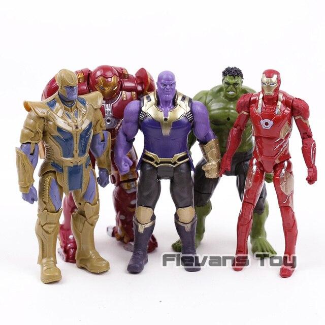 Vingadores Marvel Thanos Infinito Guerra Hulkbuster Hulk Homem De Ferro Ação PVC Figuras Presentes Meninos Brinquedos 5 pçs/set