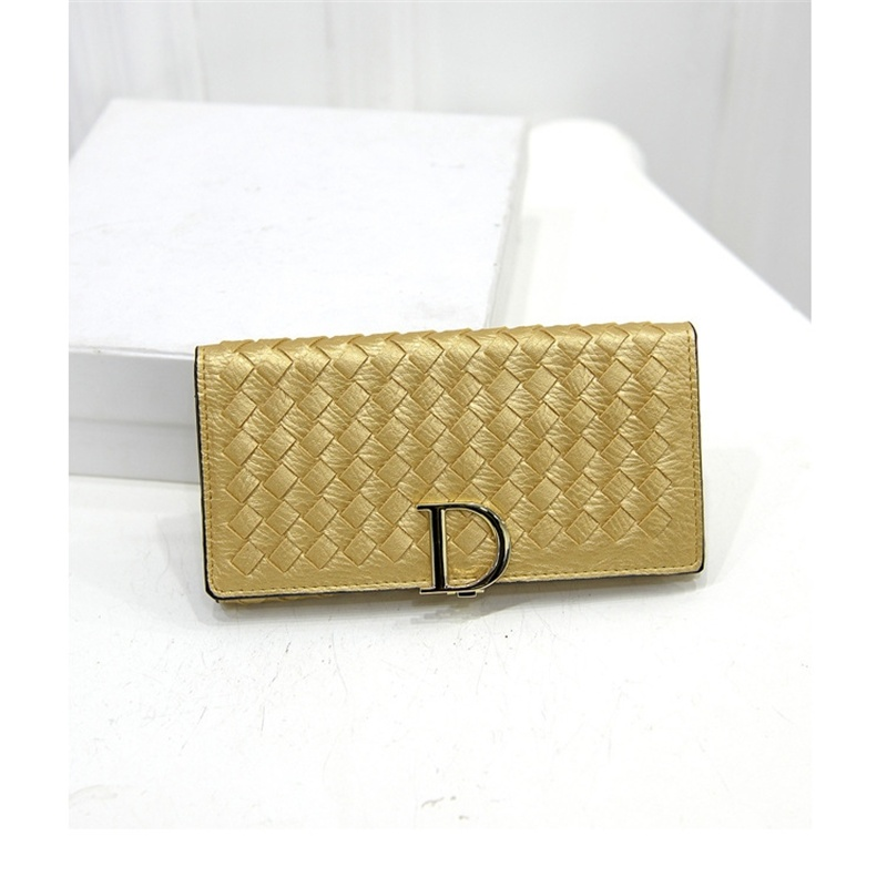 2017 New Arrival  Beautiful Knitting Women Long Wallet  High Quality Fashion Wallet Clutch With Card Holder Purse ST1122 Gold new high quality beautiful hair izumi