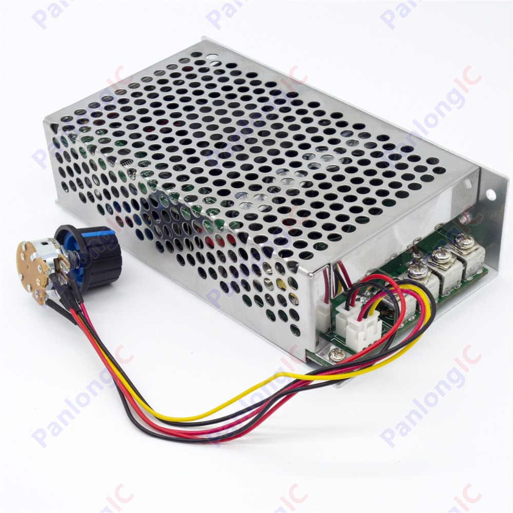 New 10 50v 80a Dc Motor Speed Control Pwm Hho Rc Controller 12v Behind Selecting Frequency For Of A 24v 36v 48v 4000w Max High Quality With Metal Case