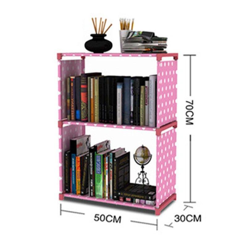 minimalistische boekenkast moderne creatieve home decoratie assemblage 2 grids rvs boek plank woonkamer opslag meubels in minimalistische boekenkast moderne