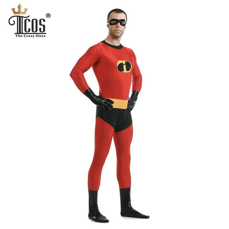 Incredibles Costum Man Cosplay Costume Adult Costum Lycra Spandex - Costume carnaval