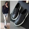 Promotional 2017 Casual Flat Heel Bow Knot Round Toe Slip On Black Loafer Shoes Autumn Comfortable Women Shoes