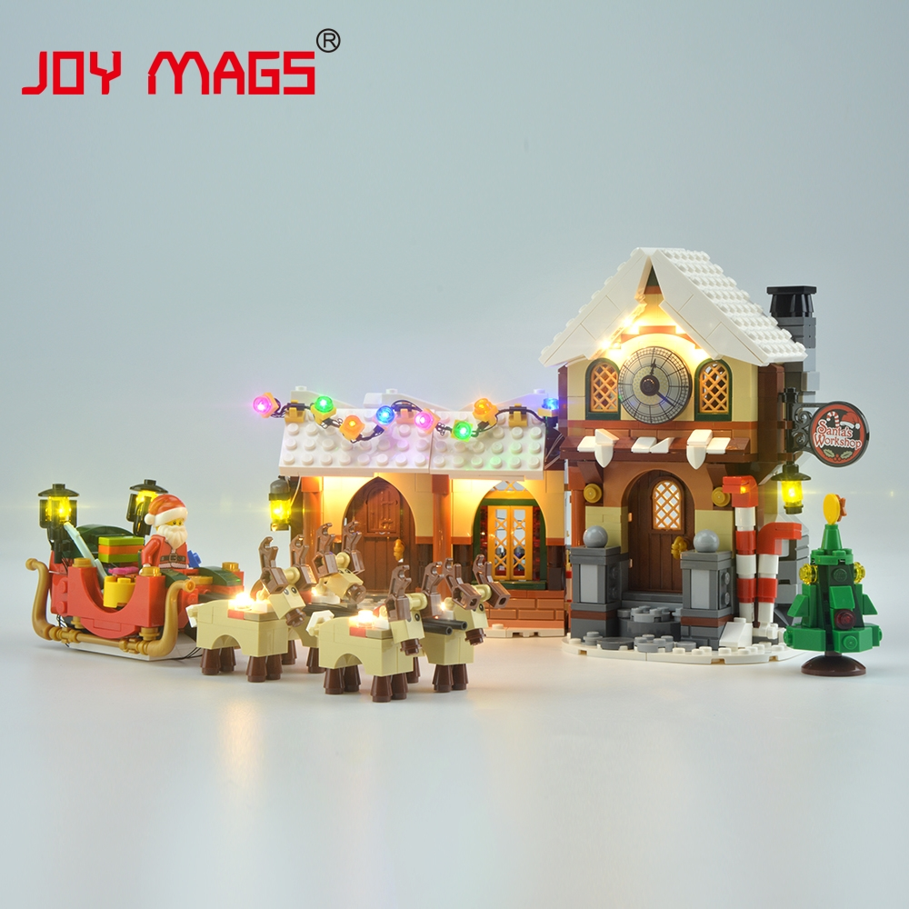 JOY MAGS Led Light Kit For Building Blocks Creator Santa's Workshop 10245 33024 Compatible With Lego Excluding Building Model joy mags only led light set building blocks kit light up kit for creator series f40 car compatible with lego 10248 21004